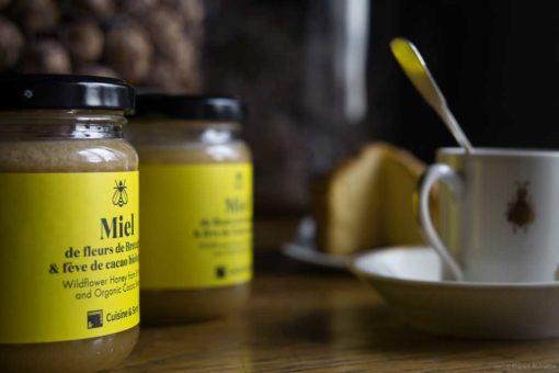 Miel fleurs de Bretagne et fève de cacao biologique