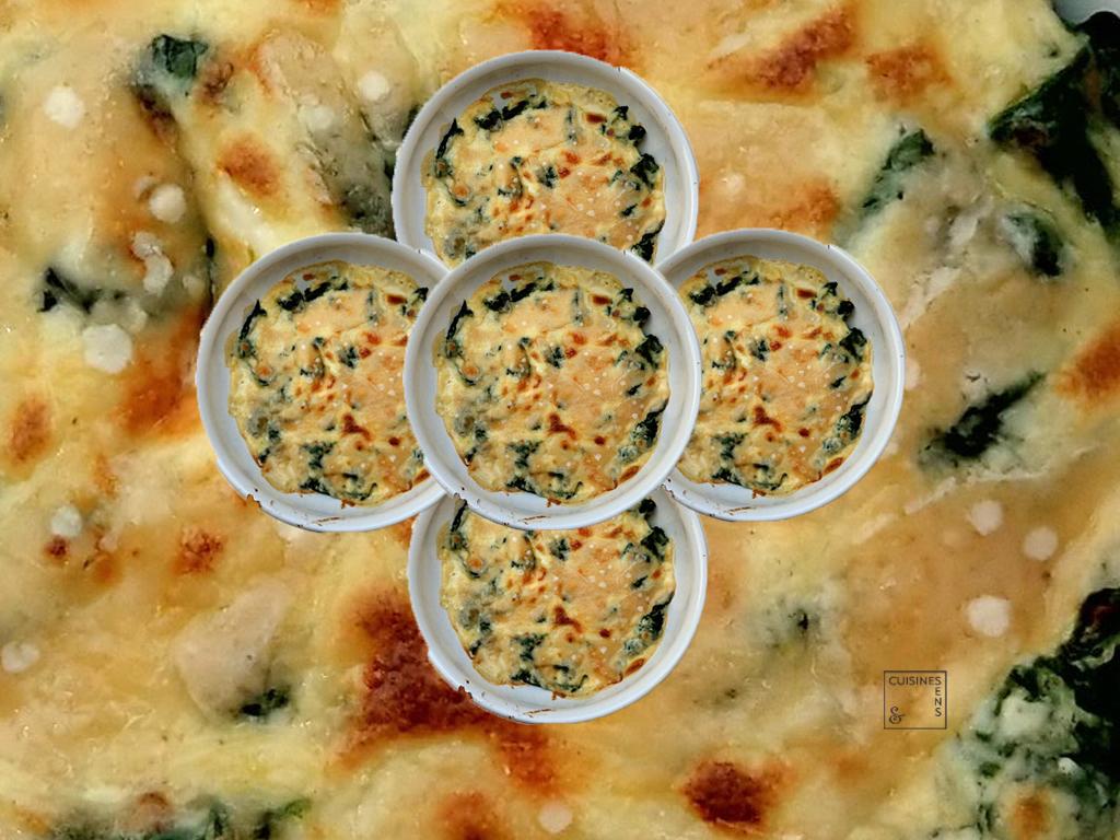 Pinards cr meux l 39 ail confit noix muscade et thym for Noix de muscade cuisine