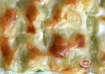 Gratin de ravioles du Dauphiné aux poireaux et muscade