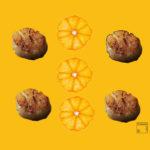 Noix St-Jacques à la mandarine givrée