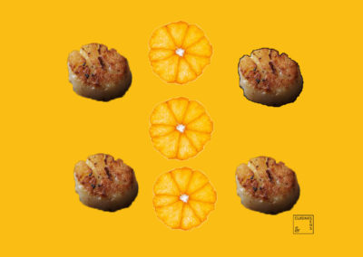 Noix de Saint-Jacques à la mandarine givrée