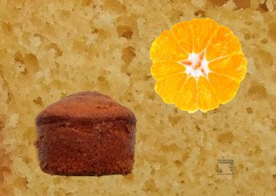 Petits cakes au fromage blanc et orange givrée