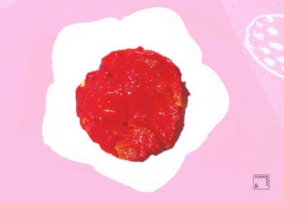Poivrons rouges confits à la coriandre
