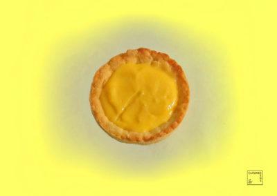 Tartelette sablée au zeste de citron givré