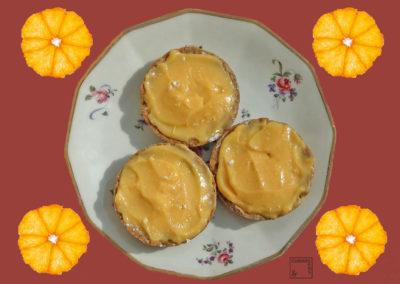 Tartelettes sarrazin à la mandarine givrée