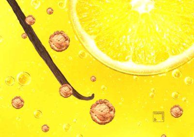 Gâteau basque citronné crème vanille