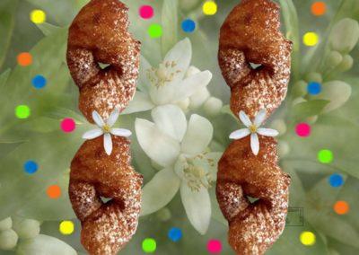 Bugnes lyonnaises moelleuses et fleur d'oranger