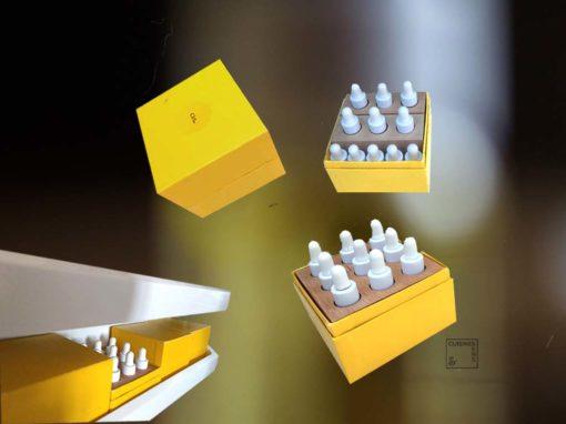boite jaune huiles essentielles cuisine et sens